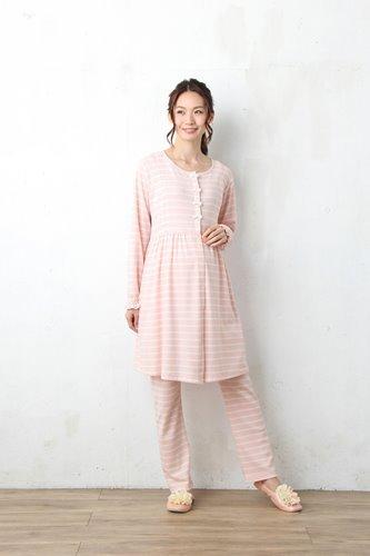 2位のピンクのマタニティパジャマ