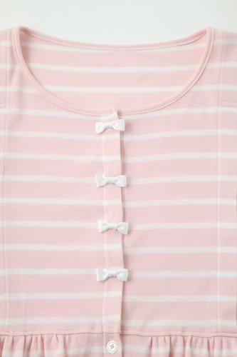 2位のマタニティパジャマのボタンはリボン