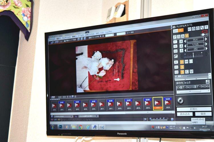 フォトハグ,お昼寝アート PC画面