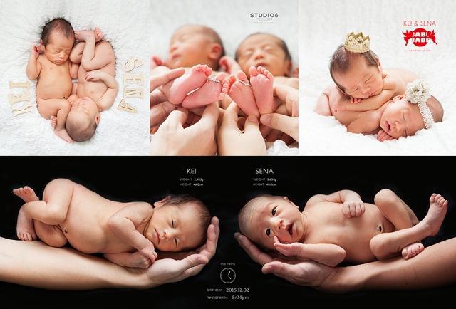 赤ちゃんの出生時の身長、体重、出生日時が記載
