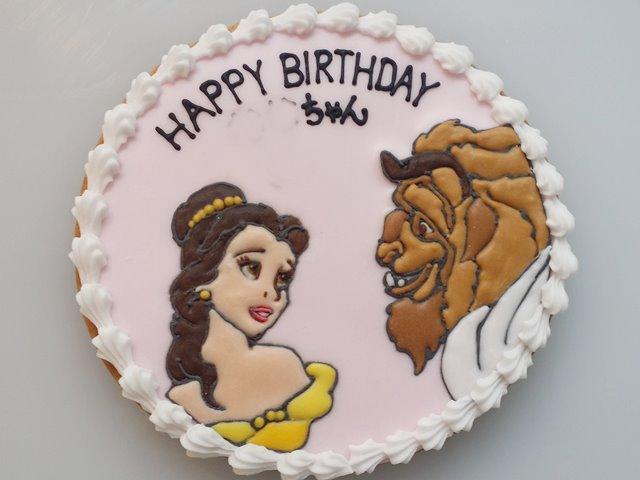 特注オーダーのアイシングケーキ美女と野獣