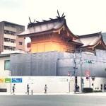 工事中の新社殿
