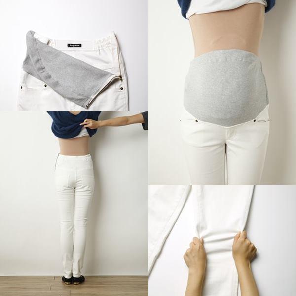 P・パンツの白ズボンの人気の拡大画像