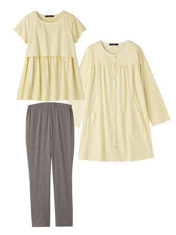 半そで、長袖3点セットのマタニティパジャマ