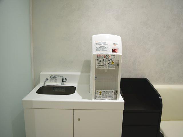 浄水給湯器とシンクが用意
