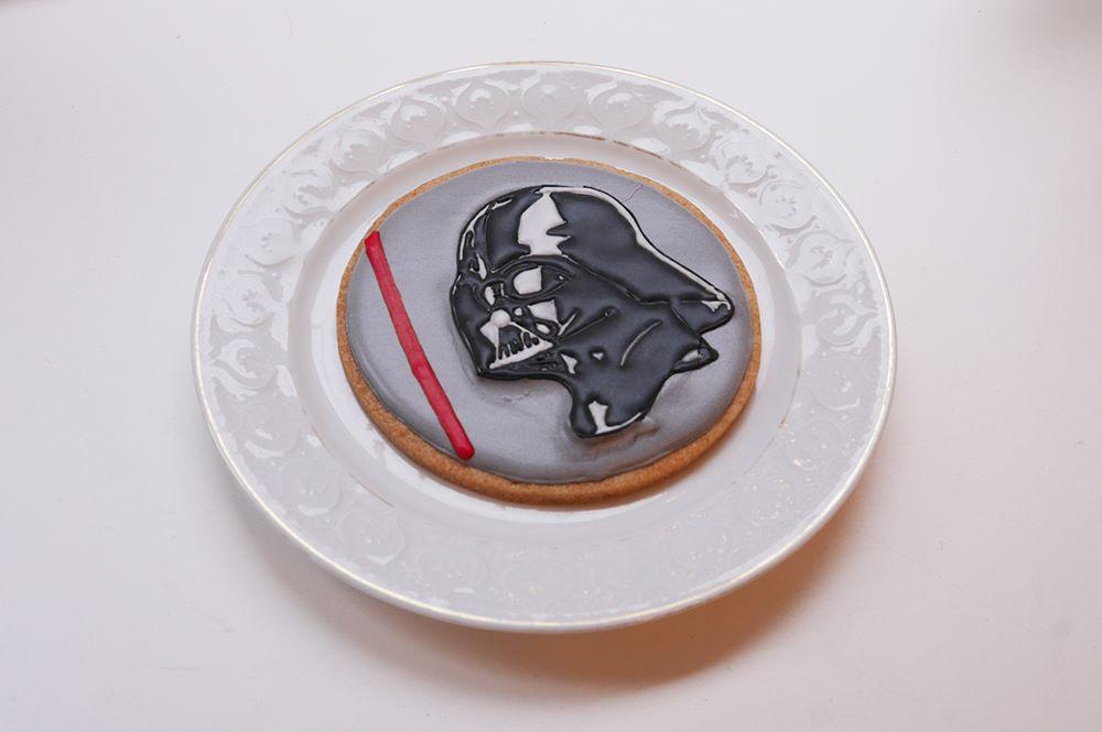 スターウォーズのダースベーダのクッキー