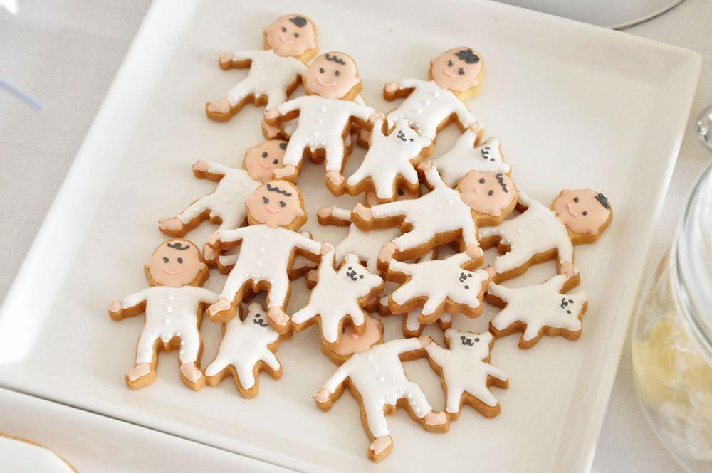 ベビーシャワーの男の子アイシングクッキー