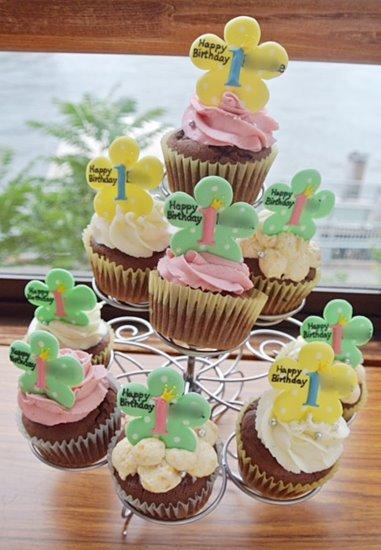 誕生日のカップケーキ